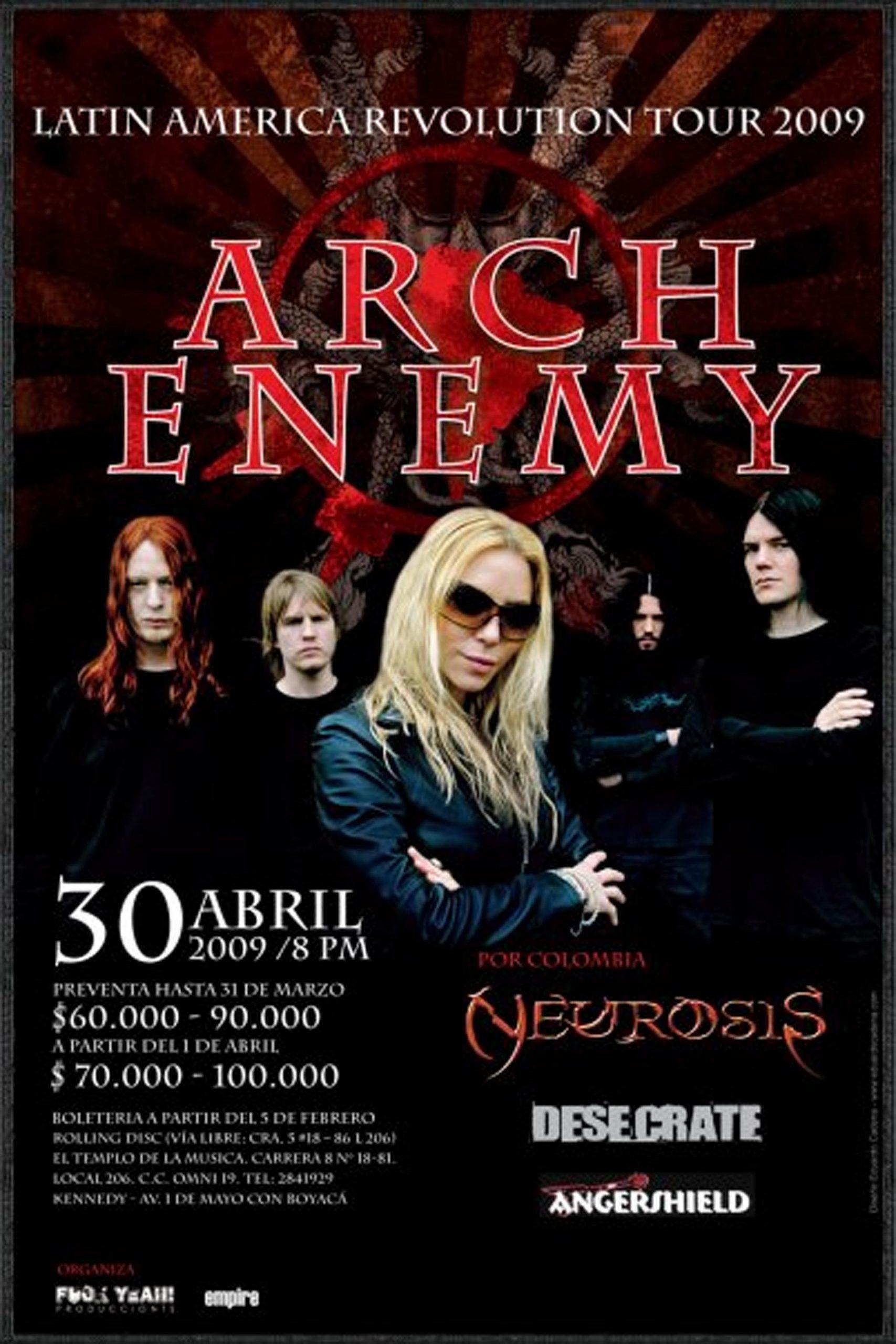 Arch Enemy en Bogotá 2009
