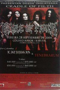 Cradle of Filth en Pereira