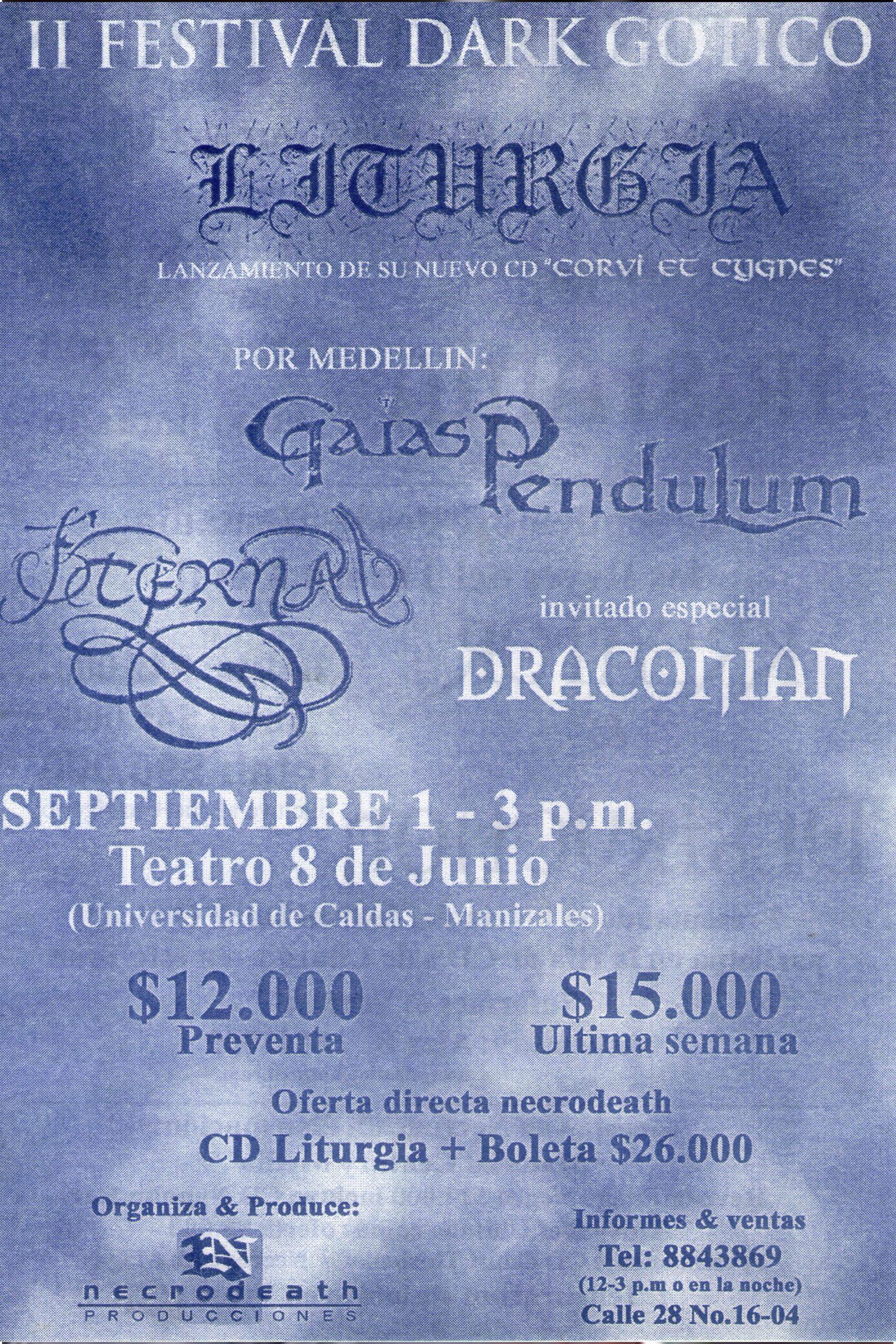 II Festival Dark Gótico en Manizales