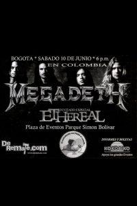 Megadeth por Colombia