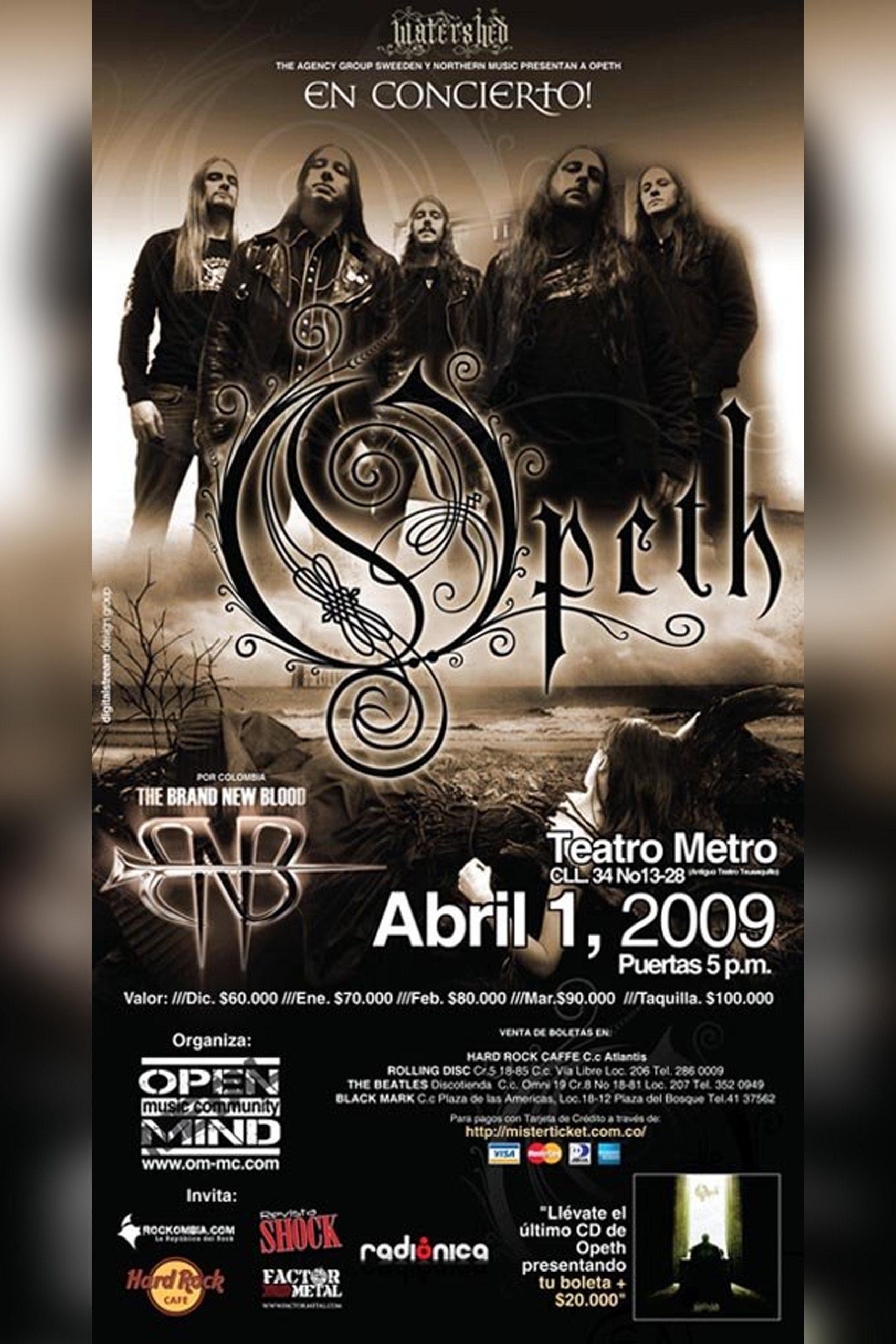 Opeth en Bogotá 2009