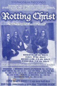 Rotting Christ desde Grecia para Colombia